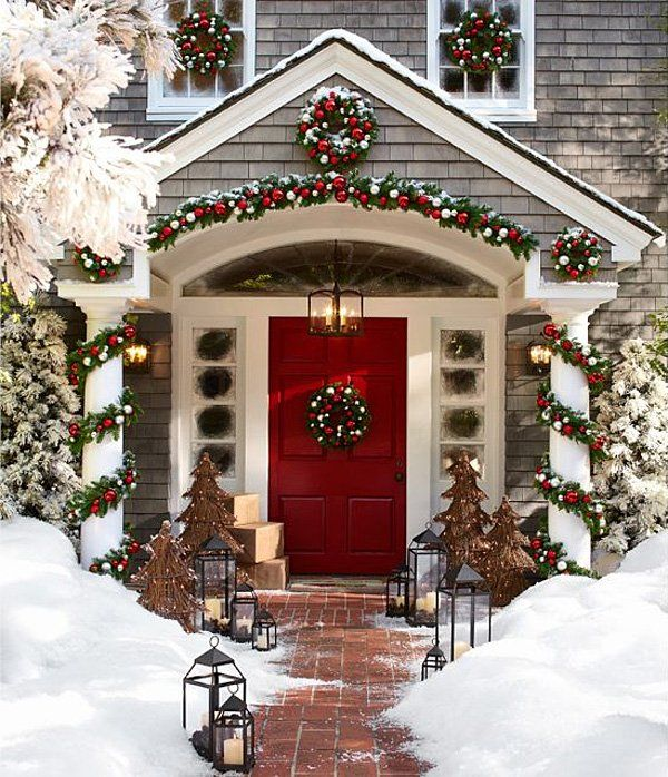 Charming Christmas Decoration Ideas Uk Part - 13: Christmas Outdoor Decoration