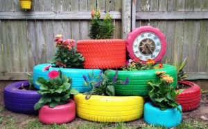 flower pots from tires