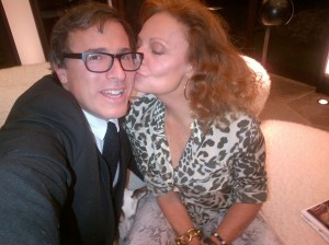 Diane von Furstenberg and David O. Russell