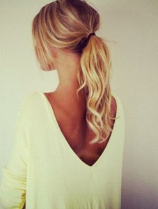 plain ponytail